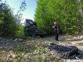 BAM Road entlang der Baikal Amur Magistrale in Sibirien