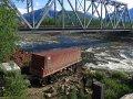 Flussdurchfahrt mit 40' Container an der BAM Road