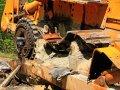 defekte Baumaschine an der BAM Road