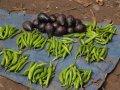 grüne Chilis auf dem Markt