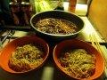 eingelegtes Rindfleisch mit Mungbohnen und Nudeln