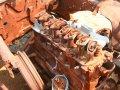 von Landmine zerstörtes Fahrzeug