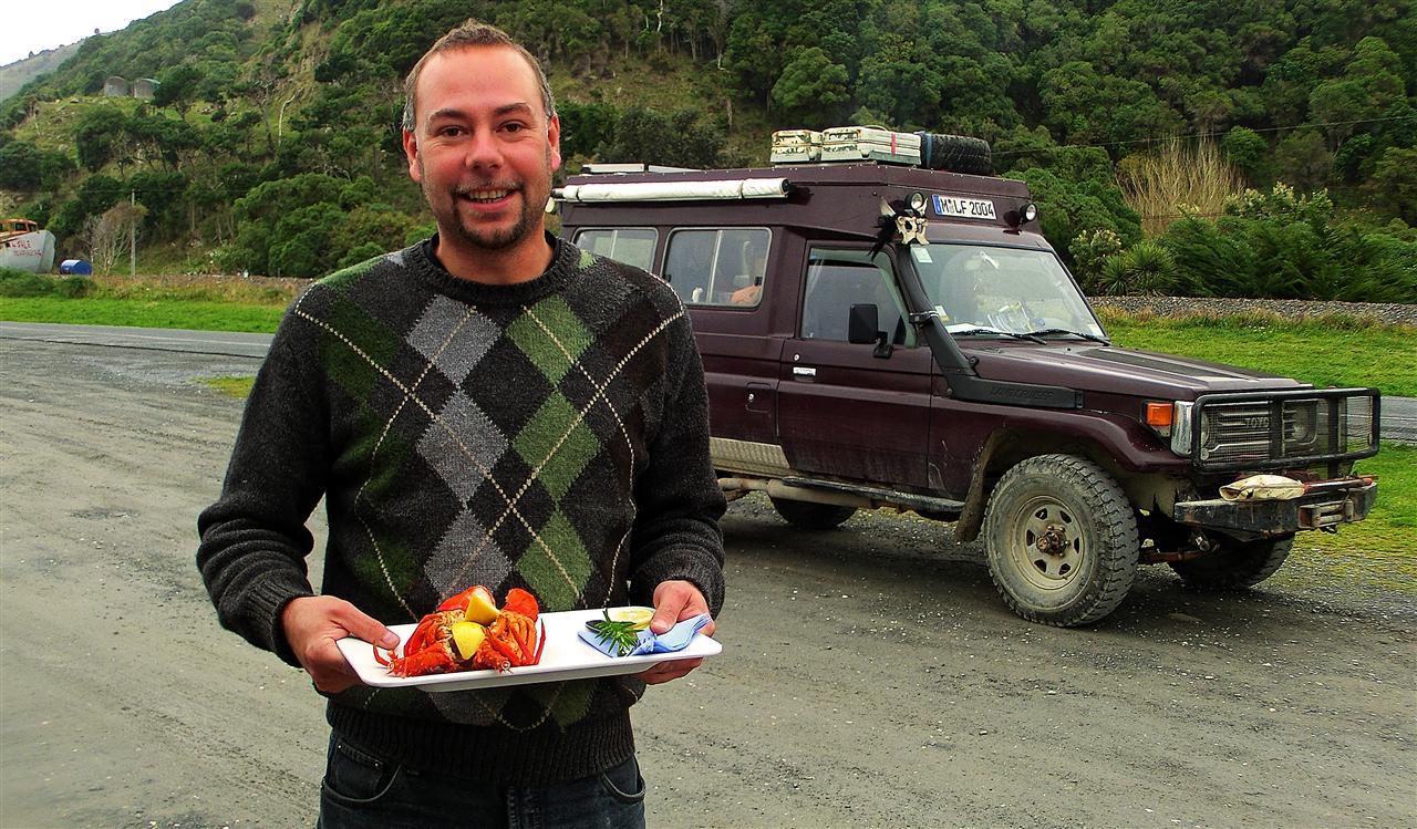 Languste mit Zitrone (Neuseeland)