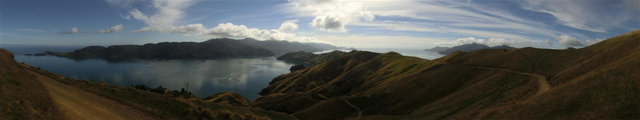 Marlborough Sound Panorama (Neuseeland)