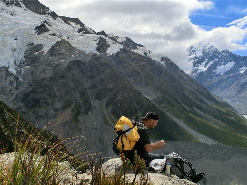 Wandern am Mount Cook (Neuseeland)