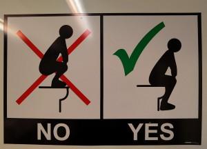 Bedienungsanleitung für's WC (Neuseeland)