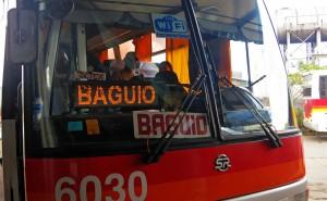 Reisebus nach Baguio (Philippinen)
