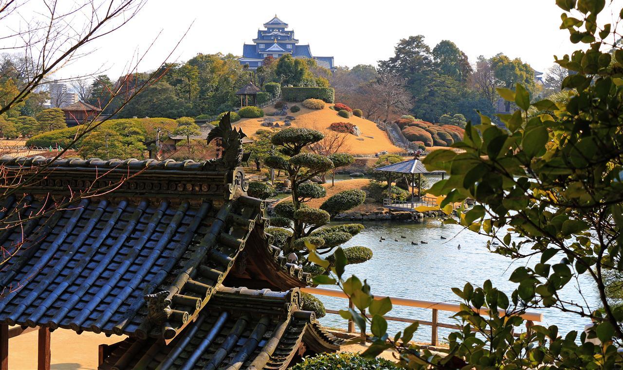 Koraku-en Garten in Okayama (Japan)