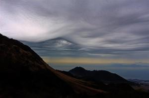 Wolkenstimmung am Vulkan Unzen (Japan)