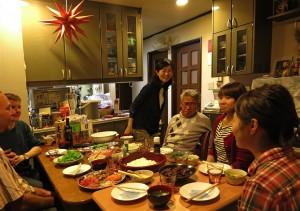 Essen bei Gordon, Megumi und Eltern (Japan)