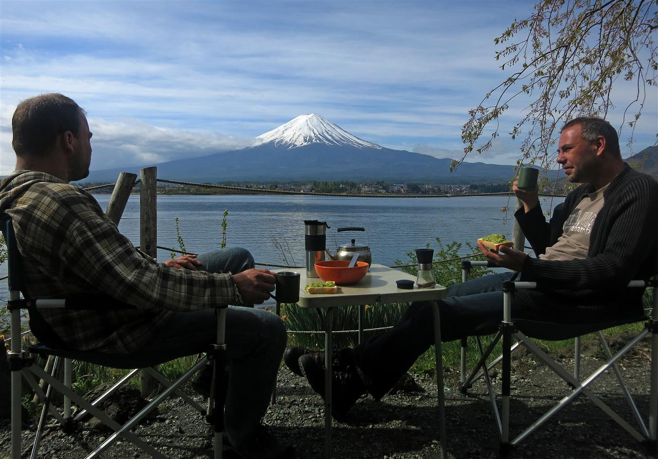 Frühstück am Fuji (Japan)