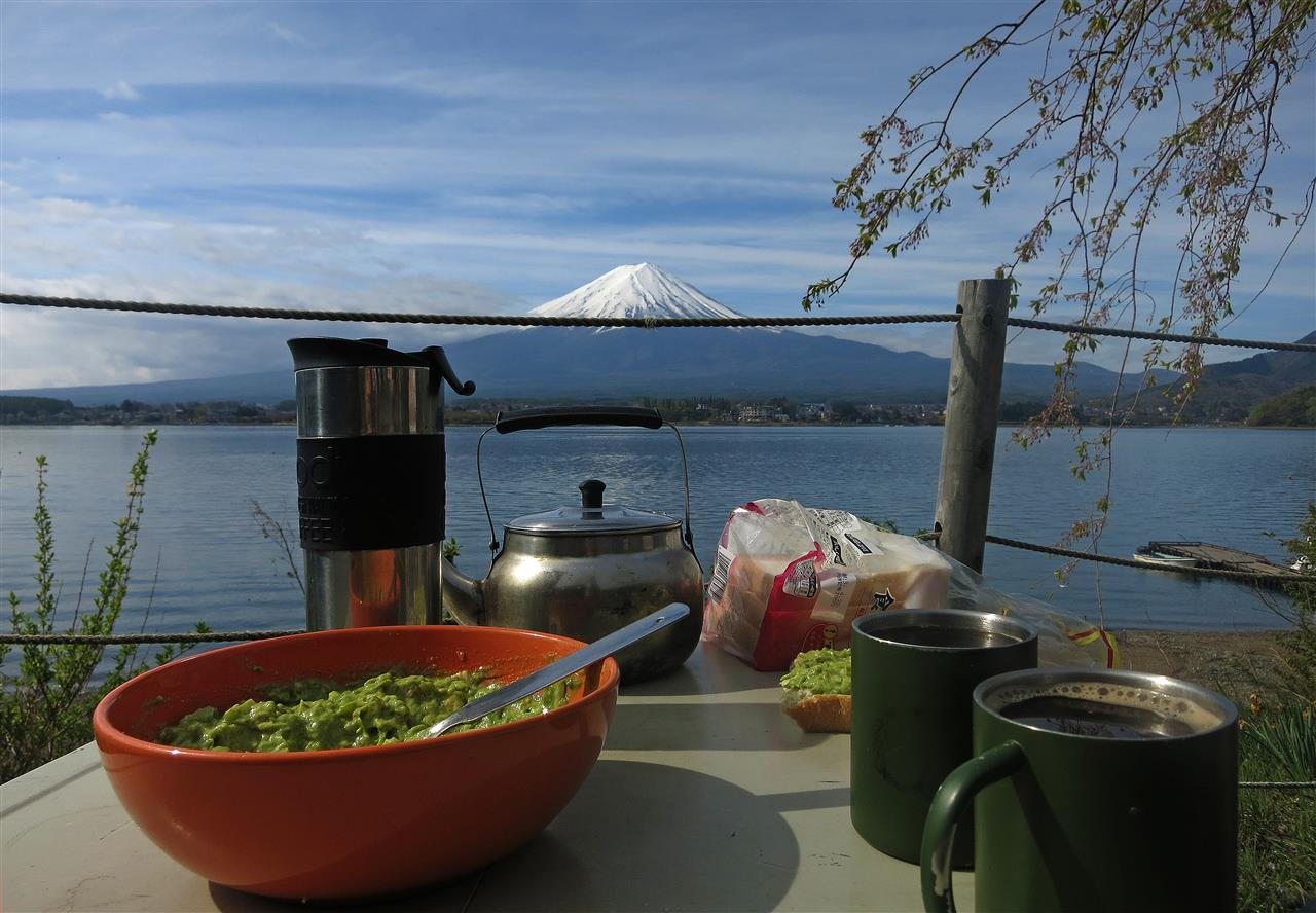 Frühstück am Mt. Fuji (Japan)