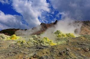 Mount Io im Akan Nationalpark (Japan)