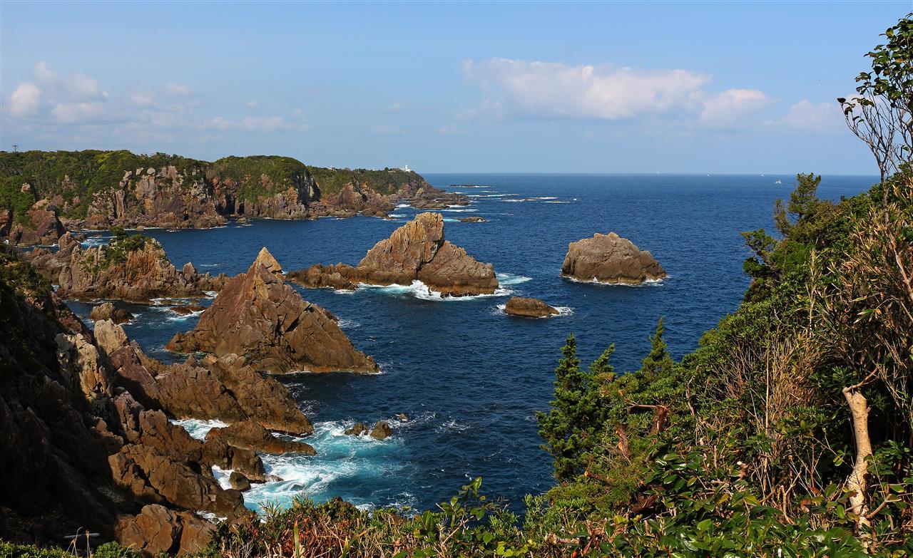 Umikongo Felsen auf Oshima (Japan)