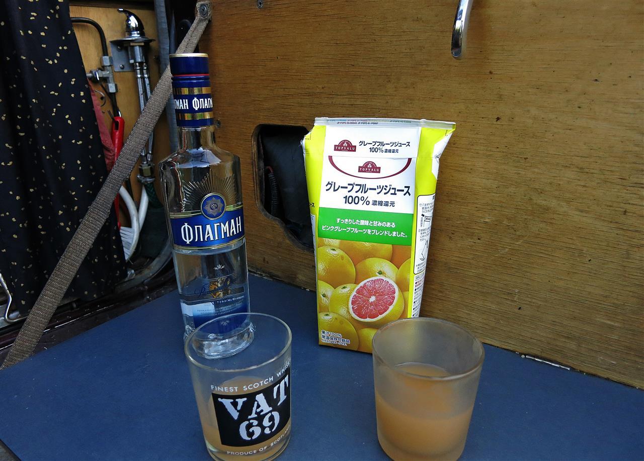 russischer Vodka mit japanischem Grapefruitsaft (Russland)