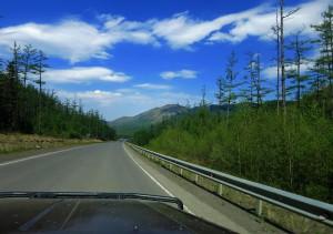 neue Strasse in Sibirien (Russland)