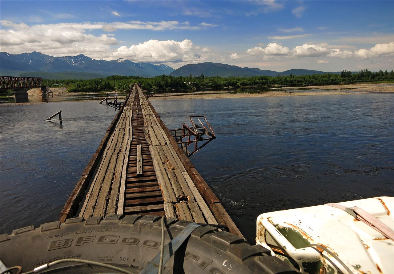 auf der Vitim Brücke (Russland)