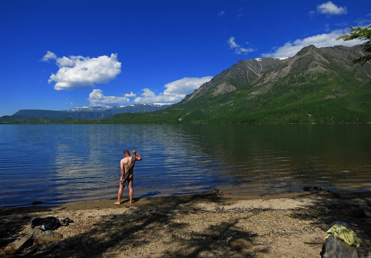 baden in Sibirien (Russland)