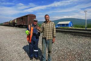 Bahnarbeiter an der BAM (Russland)