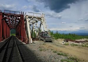 zweigleisige Brücke an der BAM (Russland)