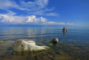 Baden im Baikalsee (Russland)