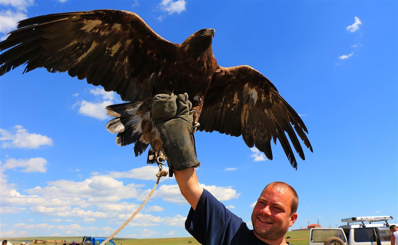 Gunter hat einen Vogel (Mongolei)