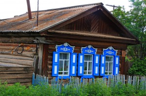 sibirisches Holzhaus (Russland)