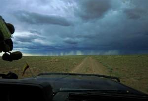 Gewitter in der Steppe (Mongolei)
