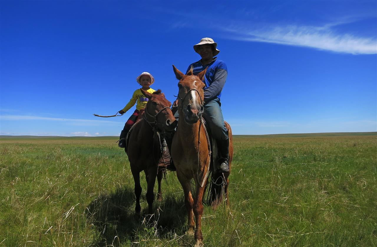 hoch zu Ross (Mongolei)