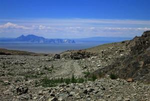 Berge als Navigationshilfe (Mongolei)