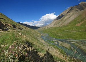 Der Fluss Naryn (Kirgistan)