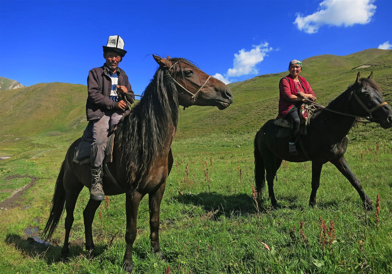 Kirgisen zu Pferde (Kirgistan)
