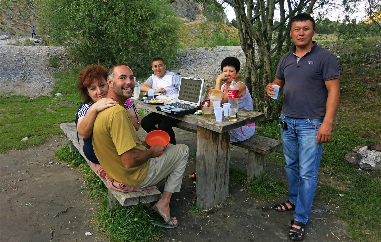 Party mit Kasachen (Kasachstan)