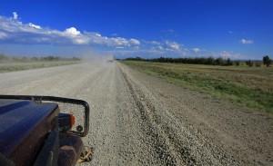 Strasse durch die Steppe (Kasachstan)