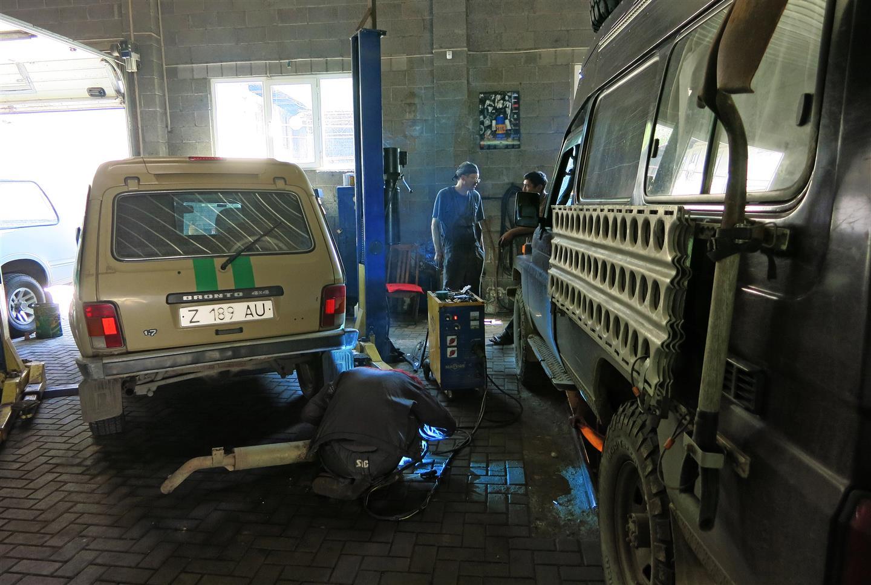 Werkstatt in Almaty (Kasachstan)