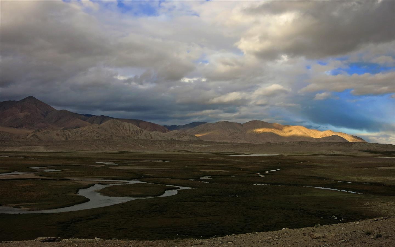 Fluß im Pamirgebirge (Tadschikistan)