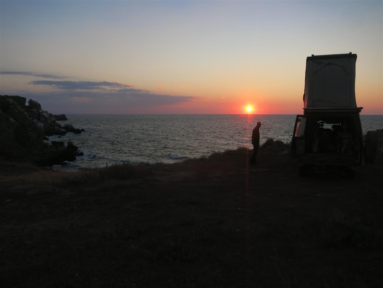 Abendstimmung am Asowschen Meer (Ukraine)