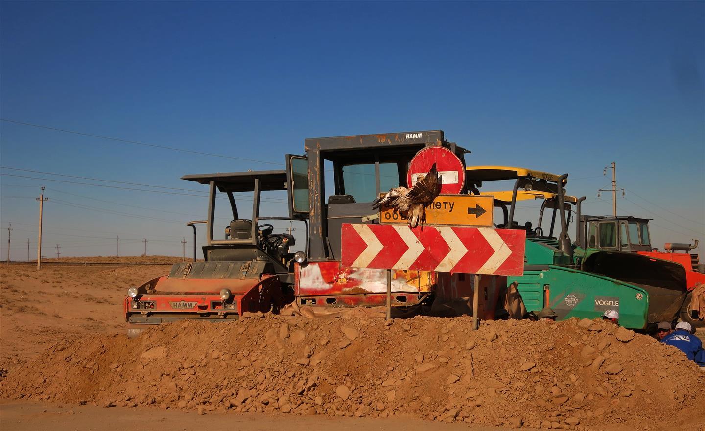 Baustelle in Kasachstan