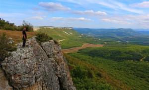 Blick von Mangup Kale (Ukraine)