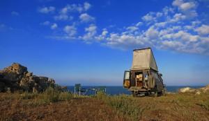 Camping am Asowschen Meer (Ukraine)