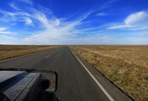 Neue Straße in Kasachstan