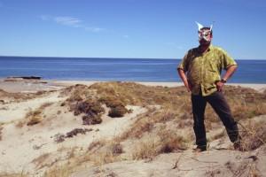 Gunter hat den Guanacoknochen gefunden